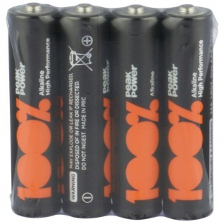 GP Peak-Power 100% AAA-Batterie 4er Pack 1, 5V Alkaline AAA-Batterien Micro LR03