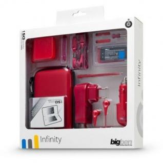 """BigBen Zubehör-Pack Set """" Infinity"""" Rot Tasche Schutz-Folie für Nintendo DSi"""