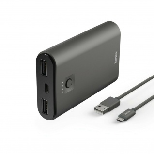 Hama Power Pack Metallic 7500mAh Ersatz-Akku Fast Charger Ladegerät Batterie