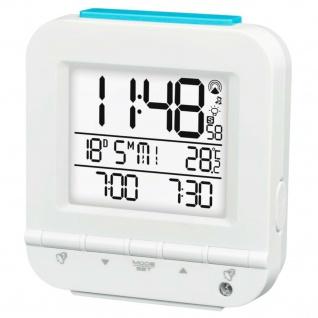 Hama Funk-Wecker Dual Alarm-Wecker LED Digital Funk-Uhr Thermometer Datum Snooze