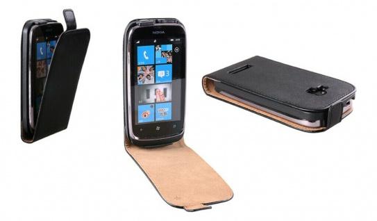 Patona Slim Flip-Cover Klapp-Tasche Schutz-Hülle Cover Case für Nokia Lumia 610