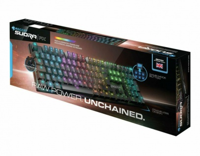 Roccat Suora FX RGB Tactile Gaming Tastatur LED GB UK Layout Keyboard Mechanisch