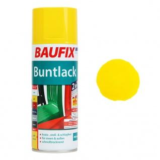 Baufix Lack-Spray Gelb Glanz 400ml Sprüh-Dose Spray-Dose Sprüh-Lack Farb-Spray