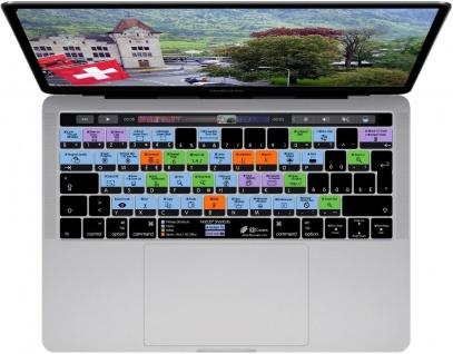 KB Tastatur-Abdeckung Shortcuts Cover Schweiz CH Schutz für mac-OS MacBook Pro