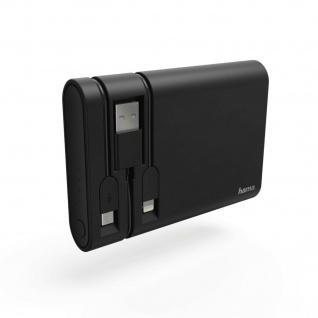 Hama Power Pack 10400mAh integrierte Ladekabel Akku Tragbar LED-Anzeige USB