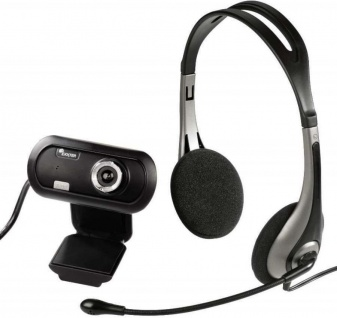 Hama PACK Headset + USB HD Webcam EX2 720p Kamera Cam Kopfhörer Chat Notebook PC