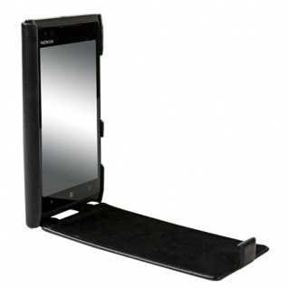 Krusell Donsö Flip-Cover Leder Handy-Tasche für Nokia Lumia 900 Hülle Hard-Case