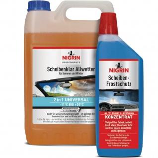 Nigrin 5L Scheiben-Klar + 1L Scheiben-Frostschutz -40°C Klarsicht Konzentrat