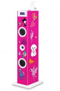 Bigben Kinder 2.0 Sound-Tower TW5 Party-Lautsprecher AUX USB MP3 Mikrofon Radio