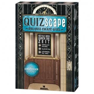 QUIZscape Das Quiz Escape Spiel Gesellschafts-Spiel für Familie und Kinder ab 14