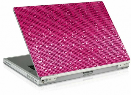"""Speedlink LARES Netbook Skin 11 11, 6"""" Glitter Pink Notebook Sticker Schutz-Folie"""