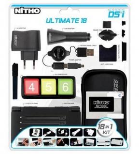 Nitho 18in1 Ultimate Pack Tasche Ladegerät Kfz Charger USB Case für Nintendo DSi