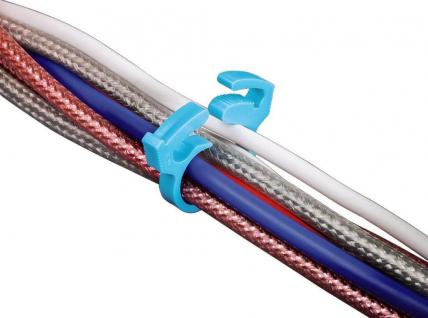 Hama 28x Kabelklemmen Kabel-Klammer Kabelkanal Kabelbündeler Kabelbinder TV HiFi - Vorschau 3
