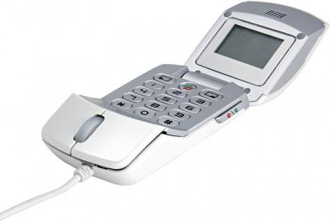 Speedlink 2in1 VoIP Internet Telefon als USB Maus Mouse für Skype ICQ Chat etc