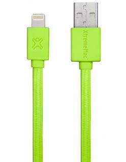 XtremeMac HQ Flat Lightning-Kabel 1m Grün für iPhone X 8 7 6 6s /Plus SE 5s 5 5c