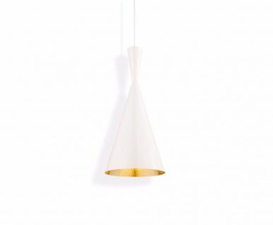 Tom Dixon Beat Tall White Pendant Pendel-Lampe Hängeleuchte Decken Design weiß