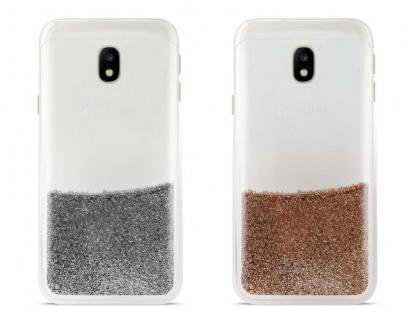 Puro Cover Sand Liquid Glitter Hard-Case Schutz-Hülle für Samsung Galaxy J3 2017