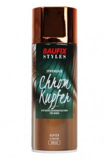 Baufix Lack-Spray Chrom-Kupfer 400ml Sprüh-Dose Spray-Dose Sprüh-Lack Farb-Spray