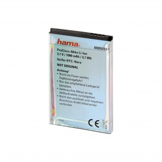 Hama ProClass Li-Ion Akku für HTC BA-S380 Hero Google G3 T-Mobile G2 Touch - Vorschau 2