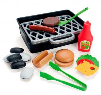 Dantoy 4600 BBQ Burger und Hotdog Set Spielzeug Grill Spiel-Essen Kinder-Küche
