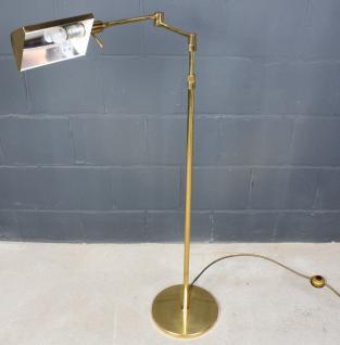 Antike Art Deco Bronze Stehleuchte Lese-Leuchte Steh-Lampe höhenverstellbar gold