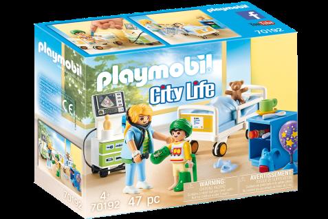 Playmobil 70192 Kinder-Krankenzimmer Spielzeug Krankenhaus Kranken-Bett Zubehör