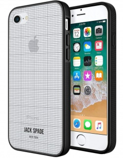 Kate Jack Spade New York Graph Cover Hard-Case Hülle Bag für Apple iPhone 7 + 8