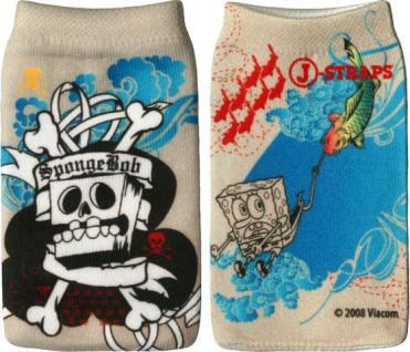 J-Straps Sponge Bob Schwammkopf 'Skull' Handysocke Socke Tasche Handytasche Etui