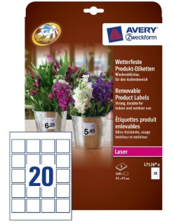 Avery 160x Produkt-Etiketten Wasserfest Produkt-Aufkleber Preis-Schilder Drucker
