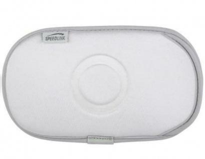 Speedlink Neopren Tasche Schutz-Hülle Etui weiß für PSP Slim&Lite Fat Street etc