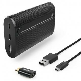 Hama Powerbank Zusatz-Akku 7800mAh USB-C Schnell-Ladegerät Batterie Charger Pack