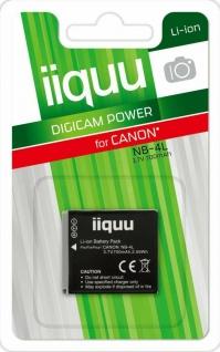 GP iiquu Li-Ion Akku für Canon NB-4L NB4L 80 100 110 120 130 115 220 230 255 ...