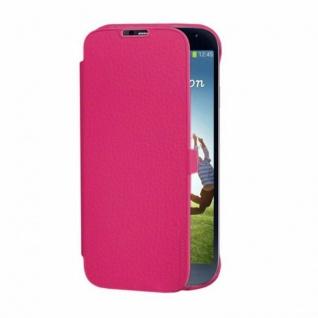 Anymode Folio Case Pink Schutz-Hülle Tasche Etui Bag für Samsung Galaxy S4 i9500