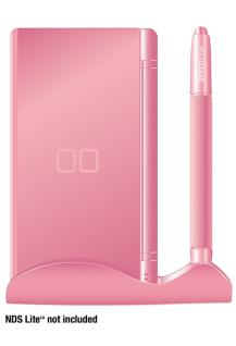 Speedlink NOX Pink Ständer Stift Pen Stand Halter Dock für Nintendo DS Lite NDS