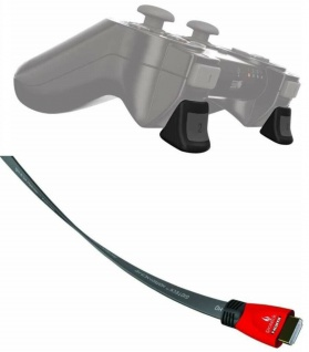 Gioteck High-End HQ HDMI-Kabel Anschluss-Kabel 3D HD für Sony PS4 PS3 Konsole TV