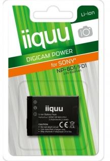 GP iiquu Akku für Sony NP-BD1 NP-FD1 CyberShot DSC-G3 T2 T70 T75 T77 T90 T200 ..