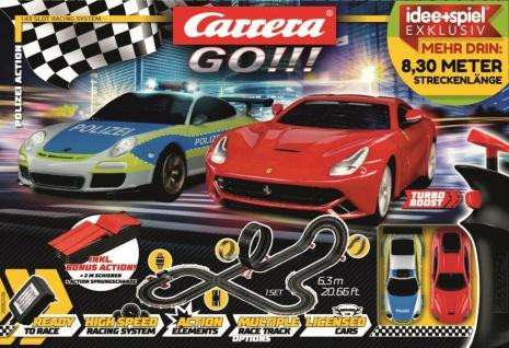 Carrera Go Polizei-Action Racing-Set Renn-Bahn Auto-Rennen mit Sport-Wagen 8, 2 m