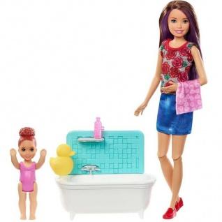 Mattel Barbie Skipper Babysitters Inc. mit Badewanne FXH05 Babysitter Puppe Bad