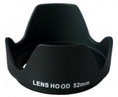 Gegenlichtblende 52mm Blende Tulpe Sonnenblende für DSLR DSLM Kamera Objektiv