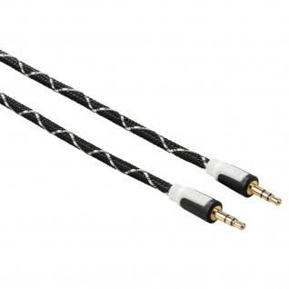Hama Audiokabel 3, 5mm Klinkenstecker 1m AUX-Kabel Vergoldet für Auto MP3 TV PC