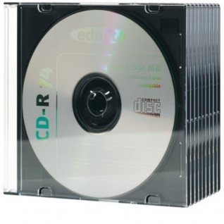 Ednet 10x CD-Hüllen 1x CDs CD-ROM Slim Leer-Hülle DVD-Hülle 10er Pack Jewel Case