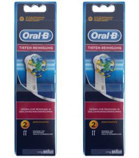 Oral-B 4er Set Aufsteck-Bürsten Tiefen-Reinigung Ersatz-Bürsten für Zahnbürste