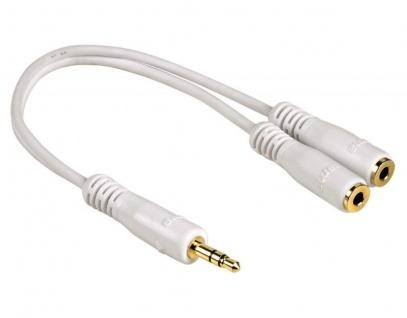 Hama Y-Adapter Splitter 3, 5mm Klinke-Kabel 2x Kopfhörer Headset Handy MP3 Player