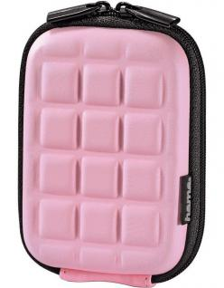 Hama Kamera-Tasche Hardcase Square Pink Hülle Case Etui für Digital-Kamera Foto