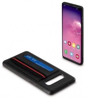Cover mit Karten-Fächern Griff Hand-Schlaufe Case Hülle für Samsung Galaxy S10
