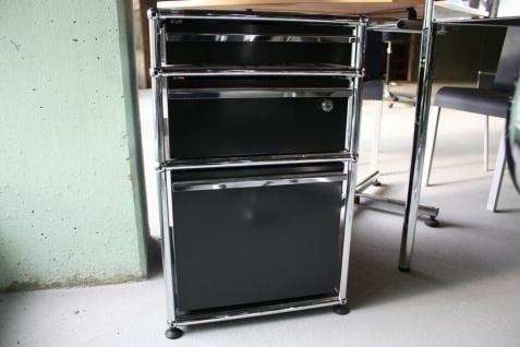 USM Haller Standcontainer Roll-Container schwarz 3 Auszüge Schubladen Tisch