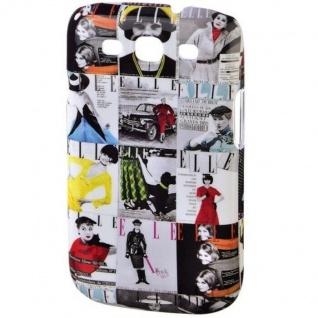 ELLE Vintage Hard-Cover Schale Hülle Bumper Tasche für Samsung Galaxy S3 SIII