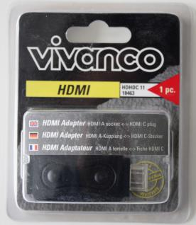 Vivanco Adapter HDMI A-Kupplung HDMI C-Stecker Buchse A - Mini C PC Notebook