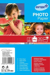 Avery Zweckform 50 Blatt 10x15 cm 200g Photo Papier Karten weiß glanz Fotopapier