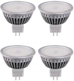 Patona 4x LED Strahler MR16 6W/55W Warmweiß 3000K Lampe Glüh-Birne Leuchtmittel